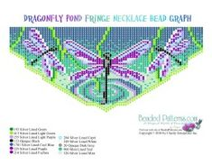 beaded fringe necklace patterns free   Dragonfly Weave Fringe Necklace Pattern and Kit