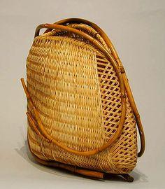 "Basketry, Honma Kazuaki, Artist, ""Origin VIII"", 2003, 20 1/2"" x 9 1/2"" x 18"""