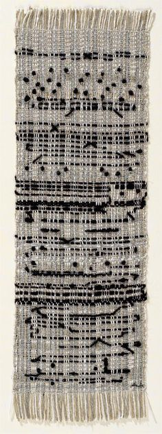 Anni Albers, Haiku, 1961 ... it's a woven representation of a written poem ... follow the llink for info