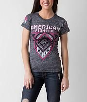 Breast Cancer-American Fighter Roosevelt T-Shirt American Fighter Shirts, Affliction Clothing, New Wardrobe, Wardrobe Ideas, Grey Tee, Roosevelt, T Shirts For Women, My Style, Mens Tops