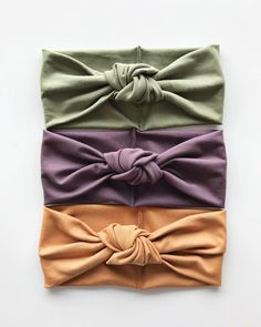 This set was designed specifically for littles ones who just made their debut into the world. All three fabrics are a bamboo blend so they're buttery soft Perfectly comfortable for newborn's little heads. Set includes: Sage Green Pretty Purple Camel >>>Baby Turban Sizes<<<