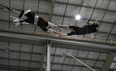 Indoor flying trapeze class with West Coast Flying Trapeze. Indoor Flying, West Coast, Vancouver, Bucket, City, Cities, Buckets, Aquarius