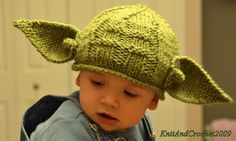 Newborn Yoda Hat All Sizes Star Wars Geeks by KnitandCrochet2009, $26.00