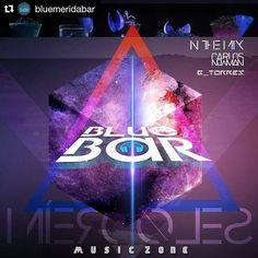 #Merida Un Blue #2Nite ???  . . .  #Repost @bluemeridabar (@get_repost)  Miercoles de rumba Blue! Aquí sigue la movida nocturna mas activa hoy con @djcarlosnewman y @guilletorres05 reventando la #MusicZone  cócteles alucinantes las birras bien frías tragos seductores ron vodka y más te esperan para que la pases de lo mejor! #BlueBar #BlueNight #BlueStyle #Miercoles #Music #Djs #Audio #Like #Drinks #BlueDrinks #Beers #Cervezas #Birras #Cocteles2x1 #CocktailBar #Cocteles #Cocktail #Bar…