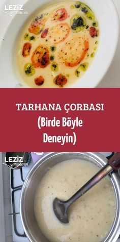 Tarhana Çorbası (Birde Böyle Deneyin) Turkish Recipes, Food Design, Turkish Cuisine, Cheeseburger Chowder, Cake Recipes, Favorite Recipes, Food And Drink, Drinks, Cooking