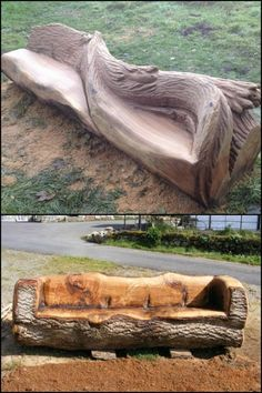Check out these unique furniture made from tree stumps and logs!