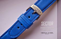 Custom Made Sector - Electric Blue Handmade Leather Strap- Fits Other Watches Custom Lug Size Color Stitching by ChristianStraps on Etsy Electric Blue, Custom Made, Calves, Husband, Christian, Happy Spring, Watches, Handmade Leather, Trending Outfits