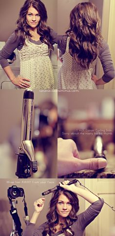 Wavy Hair tutorial- it's all in the curling iron.