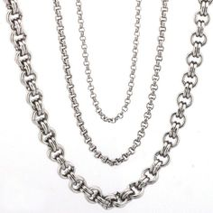 316L Stainless steel Fashion Necklace Stainless Steel Necklace, 316l Stainless Steel, Fashion Necklace, Chain, Jewelry, Design, Jewellery Making, Jewerly, Jewelery