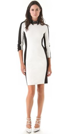 3.1 Phillip Lim Long Sleeve Shadow Dress.  It's entirely black in the back!