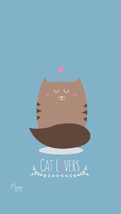 Cat Lover Cute Simple iPhone Wallpaper @PanPins