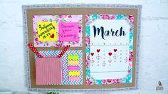 DIY организация рабочего стола календари