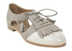 Jeffrey Campbell Kelley Oxford | Vintage Inspired Shoe | Grey and Ivory