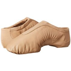 Bloch Pulse (Tan) Women's Dance Shoes ($40) ❤ liked on Polyvore featuring shoes, flats, dance, dance shoes, wide width flat shoes, flat heel shoes, low profile shoes, jazz shoes and wide width flats