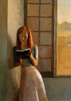 Gilles Sacksick, Young Girl Reading. #reading #books #readers