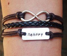 Infinity Bracelet,  Personalized Bracelet silver, Memory Bracelet, Initial Bracelet, Personalized engraved bracelet, Custom Gift