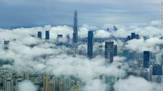 Construction in China's 'skyscraper capital' shows little sign of slowing - The Ping An Finance Center, the world's fourth tallest building, rises above Shenzhen, which built more skyscrapers last year than the entire United States. Beijing, Shanghai, Cnn International, Suspension Bridge, Rise Above, Pedestrian, Shenzhen, Switzerland, New York Skyline