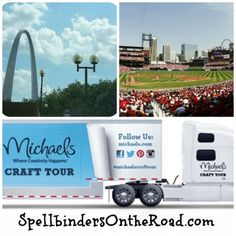 """Meet and Dussert Dussert Sullivan Stores @ the Ballpark! We're headed to Busch Stadium in St. Louis, MO for Michaels' """"Art Truck"""" the weekend of Spellbinders will be teaching attendees how to make simple die cut cards. Michael Sullivan, Busch Stadium, Michael Art, Die Cut Cards, St Louis, Missouri, Make It Simple, Stuff To Do, Truck"""