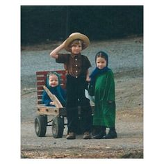 3 amish children and a wagon. Not a Nintendo in sight but still having fun. A lesson our kids could learn from.