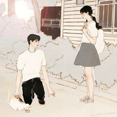 Aesthetic Drawing, Aesthetic Art, Couple Illustration, Illustration Art, Hiro Big Hero 6, Pretty Drawings, Cute Paintings, Manga Love, Korean Artist