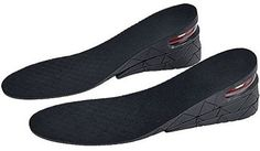 """Fuloon Unisex 4 Layer 3.54/""""//9 cm Heightening Insole Height Increase Insole Ai..."""