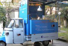Come aprire uno Streetfood Mobile Coffee Shop, Piaggio Ape, Mugs, Tableware, Food Trucks, Revolution, Colors, Bee, Dinnerware