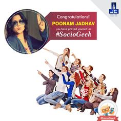 Being #SocioGeek is all about being present on all social platforms, about what you enjoy and not being afraid to demonstrate that affection. Congratulations! Poonam Jadhav, you have proved yourself as #SocioGeek and won Gift Hamper worth Rs.2, 500/- Kindly inbox your details to claim the prize.​  Thankyou All for your wonderful responses. Don't be disheartened, stay tuned for upcoming exciting contests.