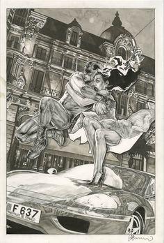 Lee Bermejo - Daredevil v. 2 #89 Cover (Marvel, 2006) Comic Art
