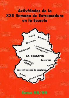 BIBLIOTECA VIRTUAL EXTREMEÑA - La cultura de Extremadura en la red: Actividades de la XXII Semana de Extremadura en la... Photo And Video, Blue Prints, School, Culture, Activities, Libros