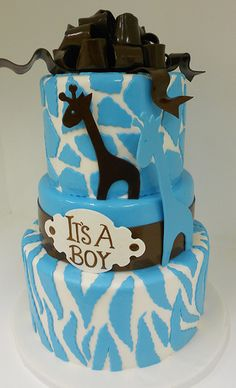 http://cakedecoratingcoursesonline.com/cake-decorating/ Giraffe theme baby shower (1029). #Baby Shower #Cake #Design - Learn Unique Cake #Decorating #Techniques Using #Online #Cakes #Decoration #Courses on http://CakeDecoratingCoursesOnline.com
