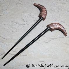 Tiefling's Horns Demon Blood Hair Sticks by NightBlooming on Etsy, $22.50
