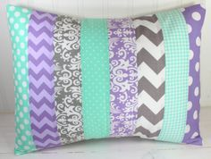Pillow Cover, Nursery Cushion Cover, Baby Girl Nursery Decor, Pillow Cover, 12 x 16 Inches,Lavender, Purple, Mint Green, Seafoam, Gray