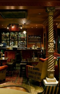 The Zetter Townhouse in Clerkenwell, for delicious and inventive cocktails.
