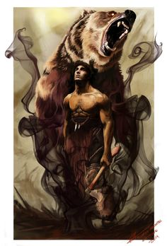 The Skin Changer by Riccasti on DeviantArt Native American Tattoos, Native American Pictures, Native American Art, American Legend, Character Portraits, Character Art, Body Art Tattoos, Cool Tattoos, Grizzly Bear Tattoos