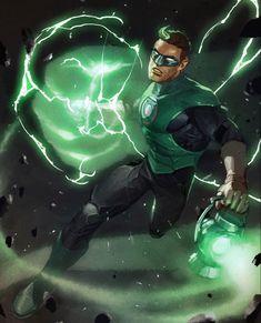 Green Lantern: Season 2 variant cover - Hal Jordan by Gerald Parel * Green Lanterns, Green Lantern Corps, Green Lantern Hal Jordan, Green Lantern Tattoo, Blue Lantern, Dc Comics Heroes, Arte Dc Comics, Dc Comics Characters, Comic Books Art