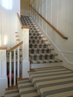 lauren stripe stair runner newport beach