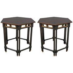 Pair of Moorish Style Hexagonal Side Tables by Baker Furniture | 1stdibs.com