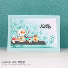 Create a smile: Snowman Bakery Snowman Cards, Try To Remember, Color Combos, Card Stock, Stencils, Christmas Cards, Bakery, Stamp, Blog