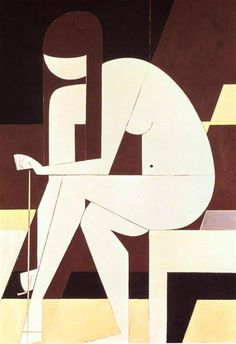 "Things from the past 📷🎥 on Twitter: ""Yiannis Moralis ""Girl Untying Her Sandal"" 1973… "" Art And Illustration, Cubist Art, Abstract Art, Tamara Lempicka, Greek Paintings, Fine Arts School, Interesting Drawings, Figurative Kunst, Flower Sketches"