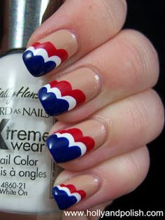 Patriotic Nail Art Inspiration - Red White and Blue Manicures for the Fourth of July - Good Housekeeping