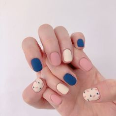 nails inspiration makeup nails wedding nails nail how to dearra nails how to nai. Minimalist Nails, Nail Swag, Stylish Nails, Trendy Nails, Luv Nails, Bling Nails, Multicolored Nails, Korean Nail Art, Long Nails