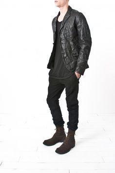 layer-0 - hemp lined horse leather blazer — re. porter