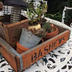 1800s Bashew crates - cool for PLANTS AND DECOR R395