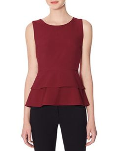 Tiered Peplum Top from THELIMITED.com