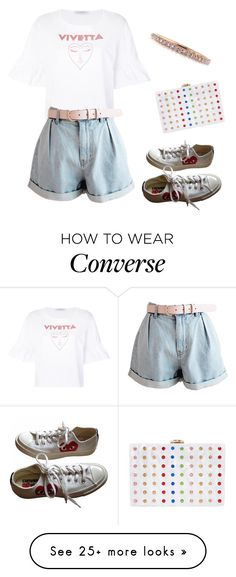"""""""Untitled #673"""" by little-creep-stalker on Polyvore featuring Milly, VIVETTA, Mark Broumand, Converse and MyFaveTshirt"""