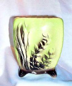 Royal Copley Pottery Vintage Marine Fall Arrangement Chartreuse Planter Vase