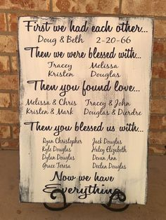 First We Had Each Other 40th Anniversary Gift by CastleInnDesigns #weddinganniversarygifts