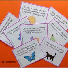 Pequeteacher: Tarjetas de adivinanzas para descargar Therapy Ideas, Montessori, Blog, Instagram, Educational Games, Teen Activities, Preschool Learning Activities, Riddle Games, Inference