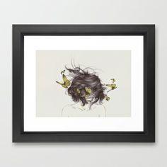 Hair III Framed Art Print