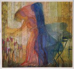 """Femme cueillant des fleurs"" par Kupka Frantisek (1909)"